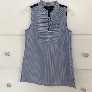JCrew Sleeveless striped blouse NWOT never worn